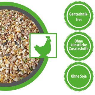 Hühnerfutter Futter für Zwerghühner Geflügelfutter Körner-Vital 15kg