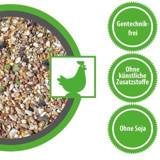 Hühnerfutter Zwerghühnerfutter 15 kg Körner Vital Exzellent Plus, für Hühner und Zwerghühner geeignet.