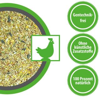 Hühnerfutter Legehennen Futter 30 kg Körnermischung mit Soja Pellets Gentechnikfrei