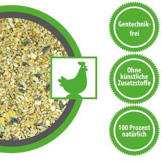 Wachtelfutter Hühnerfutter Legehennenmischung für eine ausgewogene Ernährung Ihrer Hühner 15 Kg