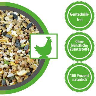 Hühnerfutter Legehennenmischung für Legehennen Junghennen und Wachteln Wachtelfutter 30 kg